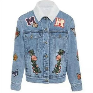 Mistress Rocks XS Low Key Denim Badge Jean Jacket